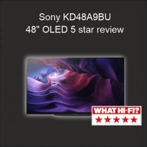 "Sony KD48A9B - 48"" OLED receives 5 star ***** What Hi-fi? review"