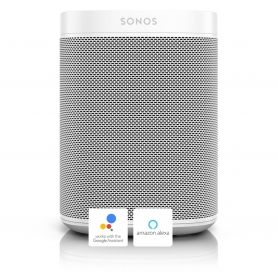 Sonos ONE smart speaker with Google Assist and Amazon Alexa voice control - white